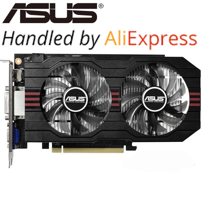 ASUS GTX 750Ti 2 GB GDDR5 A 128bit Scheda Video Originale Schede Grafiche per nVIDIA Geforce GTX750Ti Hdmi Dvi Utilizzato Schede VGA In Vendita