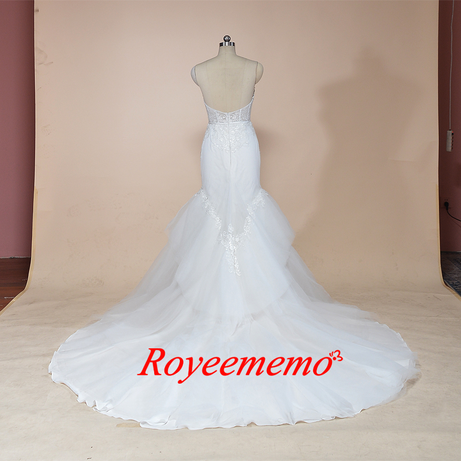Image 5 - 2019 sleeveless mermaid lace wedding dress hot sale wedding gown custom made factory wholesale price bridal dress-in Wedding Dresses from Weddings & Events