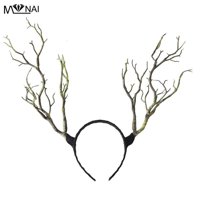 Gothic Retro Tree Branches Huvudband Props Horns Hair Accessory - Maskeradkläder och utklädnad - Foto 2