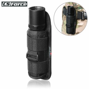 Outdoor Tactical Flashlight Pouch Holster 360 Degree Rotatable Clip Torch Cover for Belt Flashlight Holder Hunting Accessories classic black portable 5000 lumens xml t6 zoom spotlight led flashlight torch hunting tactical flashlight 18650 flashlight