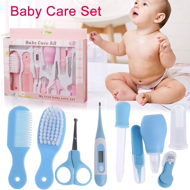 Baby Health Care Set Portable Newborn Baby Tool Kits Kids Grooming Kit Safety Cutter Nail Care