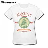 Women T Shirts Animals Short Sleeve 100 Cotton Horses Are Running Image T Shirt Brand Clothes