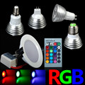 All Kinds RGB Colorful Changeable RGB LED Spotlight Bulb Christmas Decor Magic Holiday RGB lighting+IR Remote Controller