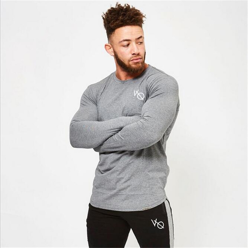 2017 Neue Runde Kragen Männer Casual T-shirt Druck Vq Marke Kleidung Herren Langarm T-shirt Männer Männer Tragen Und Größe T-shirt Zur Verbesserung Der Durchblutung