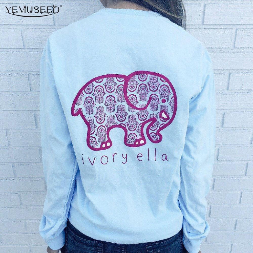 Brand New Women Fashion Back Elephant Vintage Sweatshirts Galaxy Animal Printed Hoodies WMH57