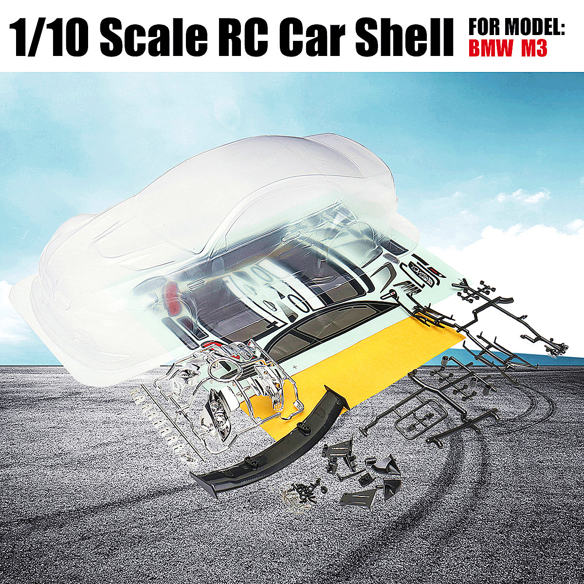 1/10 Scale Clear RC Car Body Shell PVC Transparent Clean Drift Body Shell 190mm Modification For RC Hobby Racing 1 10 rc car 190mm on road drift rally subaru body shell blue