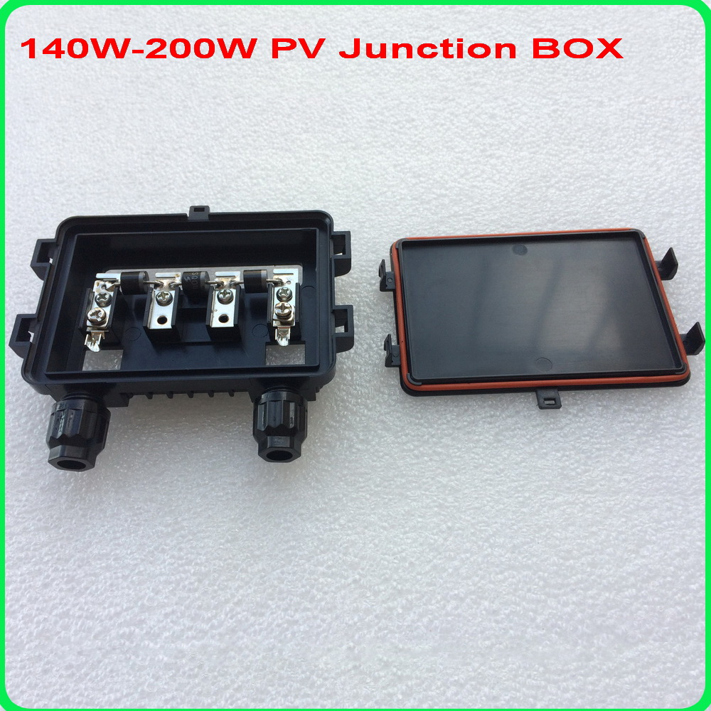 140W - <font><b>200W</b></font> <font><b>Solar</b></font> Junction Box waterproof IP65 for <font><b>Solar</b></font> <font><b>Panel</b></font> connect PV junction box <font><b>solar</b></font> cable connection with diode image