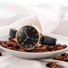 Relojes mujer Fashion Unisex Casual Women Checkers Faux Leather Quartz Analog Wrist Watch  Luxury Brand Hour Clock  #500717