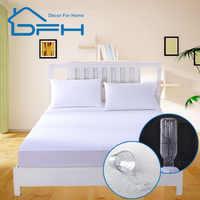 160X200 махровый наматрасник, покрытие 100%, водонепроницаемый лист матрас, защитный матрас, подходит для кровати, не пропускает свет, матрас для ...