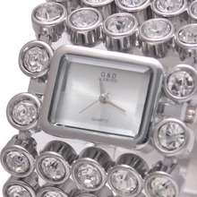 2017 G&D Women Quartz Wristwatches Top Brand Luxury Silver Lady Bracelet Watches Dress Watch Relojes Mujer Relogio Feminino Gift