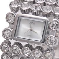 2017 G D Women Quartz Wristwatches Top Brand Luxury Silver Lady Bracelet Watches Dress Watch Relojes