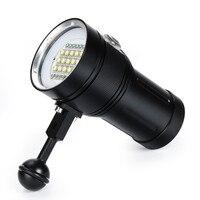 15 XM L2+6x R+6x B 12000LM LED Photography Video Scuba Diving Waterproof Flashlight Torch Outdoor Sport Portable Cycling lightP#