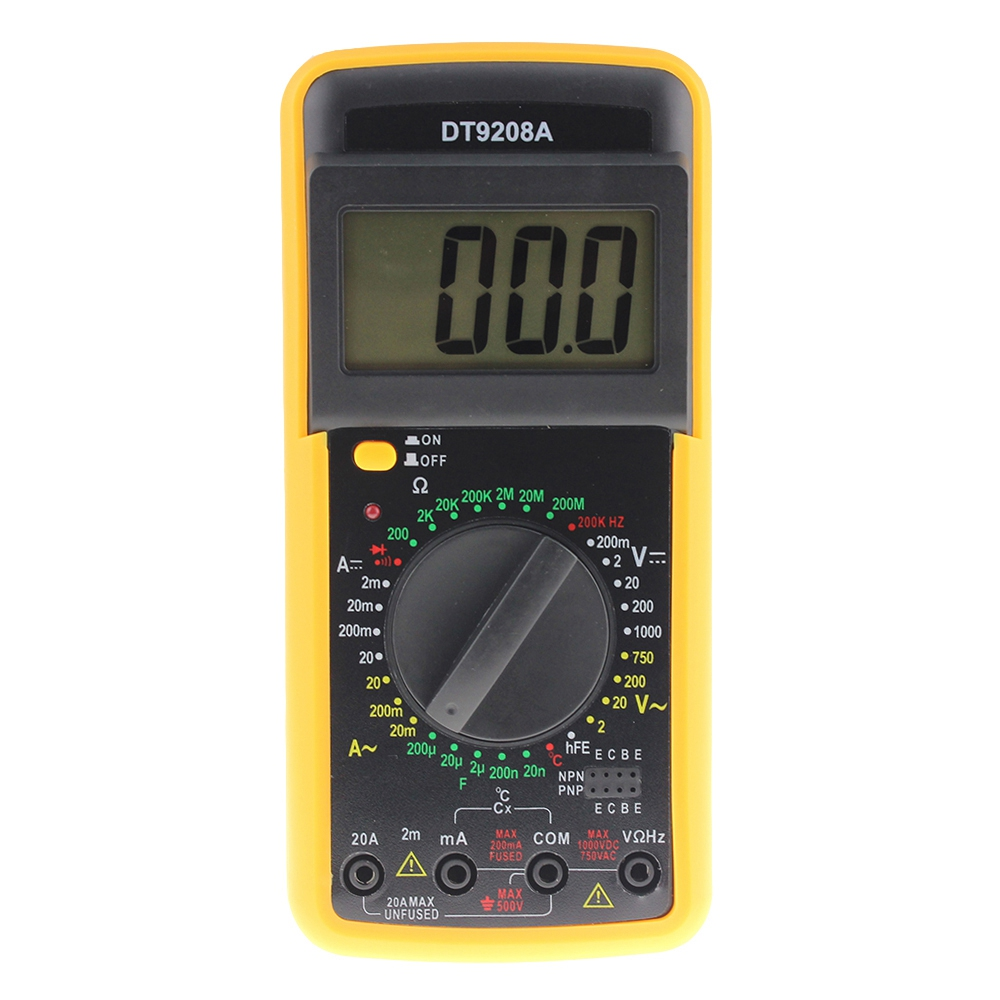 GTBL ANENG DT9208A Portable Digital Multimeter AC/DC Voltage Current Resistance Capacitance Voltmeter Ammeter Multi Tester LCD new portable dt9208a 1999 counts lcd display multimeter electric handheld ac dc resistance capacitance voltmeter ammeter