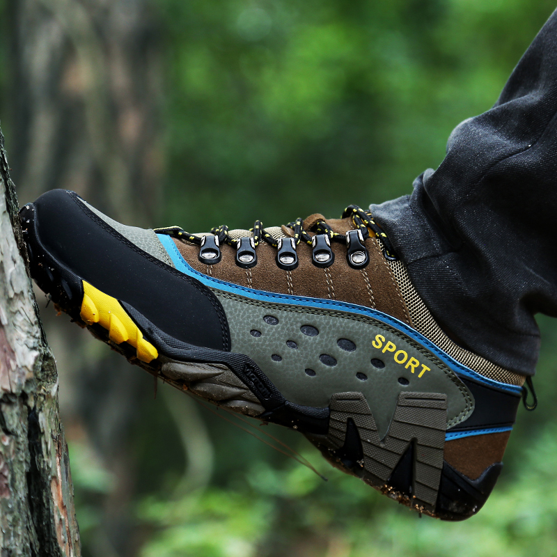 YRRFUOT Unisex Hiking Shoes Breathable Outdoor Men Sneakers Comfortable Non-slip