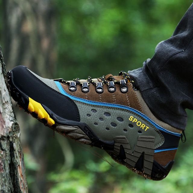 YRRFUOT High Quality Unisex Hiking Shoes Brand Breathable Outdoor Men Sneakers Comfortable Non-slip Hot Sale Adult Sports Shoes