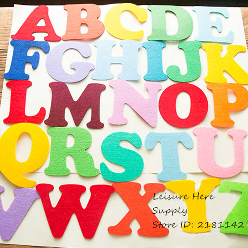 DIY Birthday Party Name Flag Hanging Banners Alphabet Capital Letter A - Z Wedding Decoration Banner Bunting for Children kids