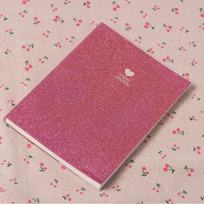 1PCS Creative PVC 25K Notebook Paper Diary School Shiny Cool Kawaii Notebook Paper Schedule Plan Writing Raw Gifts for Kids in Notebooks from Office School Supplies