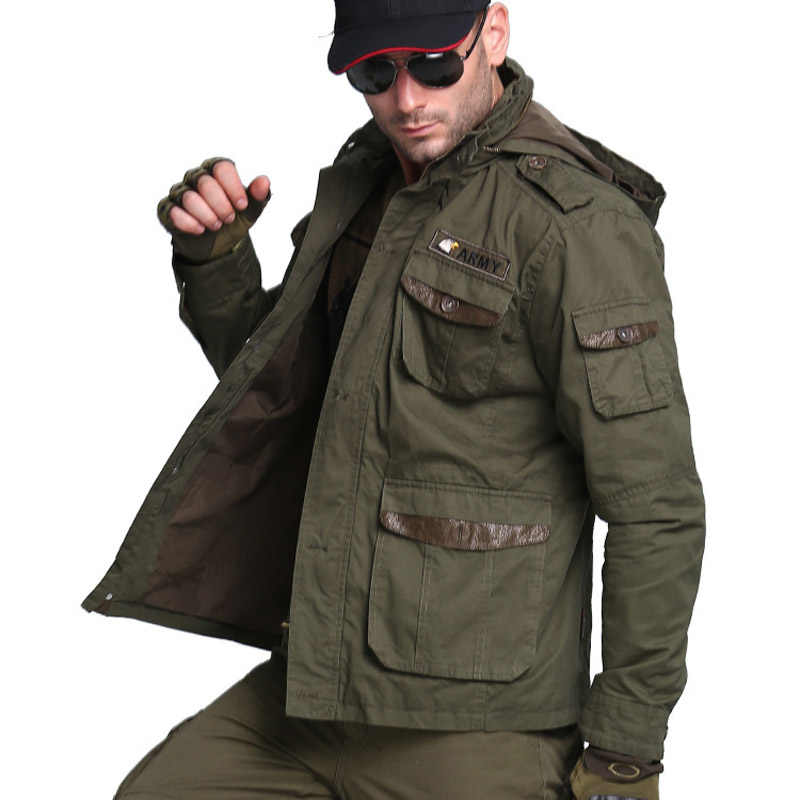 "M65 ארה""ב חיל אוויר מפציץ צבא טקטי מעילי גברים סתיו להילחם כיס מעיל נים מעילי צבאי מעיל"
