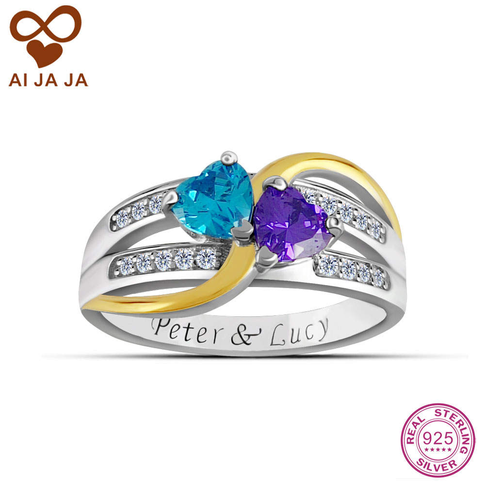 Personalized Rings With Names And Birthstones