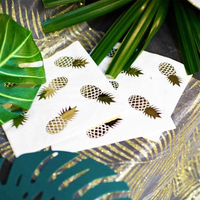 Pineapple Printed Napkin Set 16 Pcs