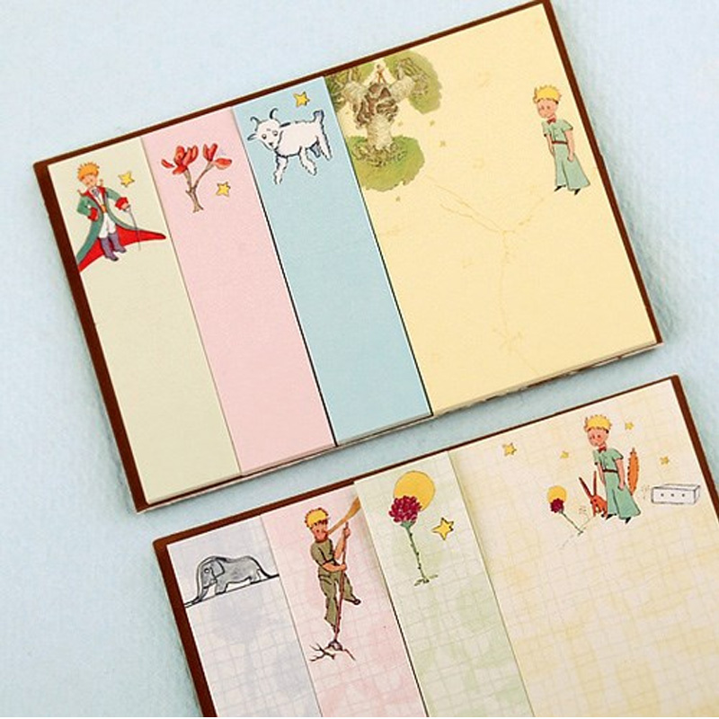 1X Creative little Prince Memo Pad weekly plan Sticky Notes Post stationery School Supplies Planner Paper Stickers цена