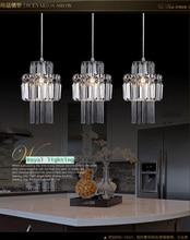 Comedor colgante de cristal de la lámpara 3 luces iluminación colgantes restaurante cristal de la lámpara colgante Kitchen bar iluminación de la boda
