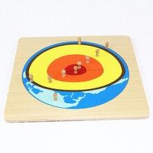 Juguete del bebé Rompecabezas Montessori Núcleo Solar con Caja de Formación Preescolar Educación Preescolar Niños Brinquedos juguetes