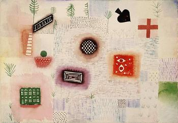 High quality Oil painting Canvas Reproductions Place signs (1926)  by Paul Klee  Painting hand painted