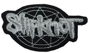 SLIPKNOT Pentagram Heavy Metal Embroidered Iron On  Patch 3/""