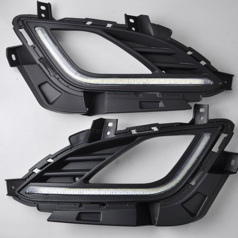 High Quality Led Daytime Running Font B Lights B Font Font B Fog B Font Font on 2013 Hyundai Elantra Light Bulbs