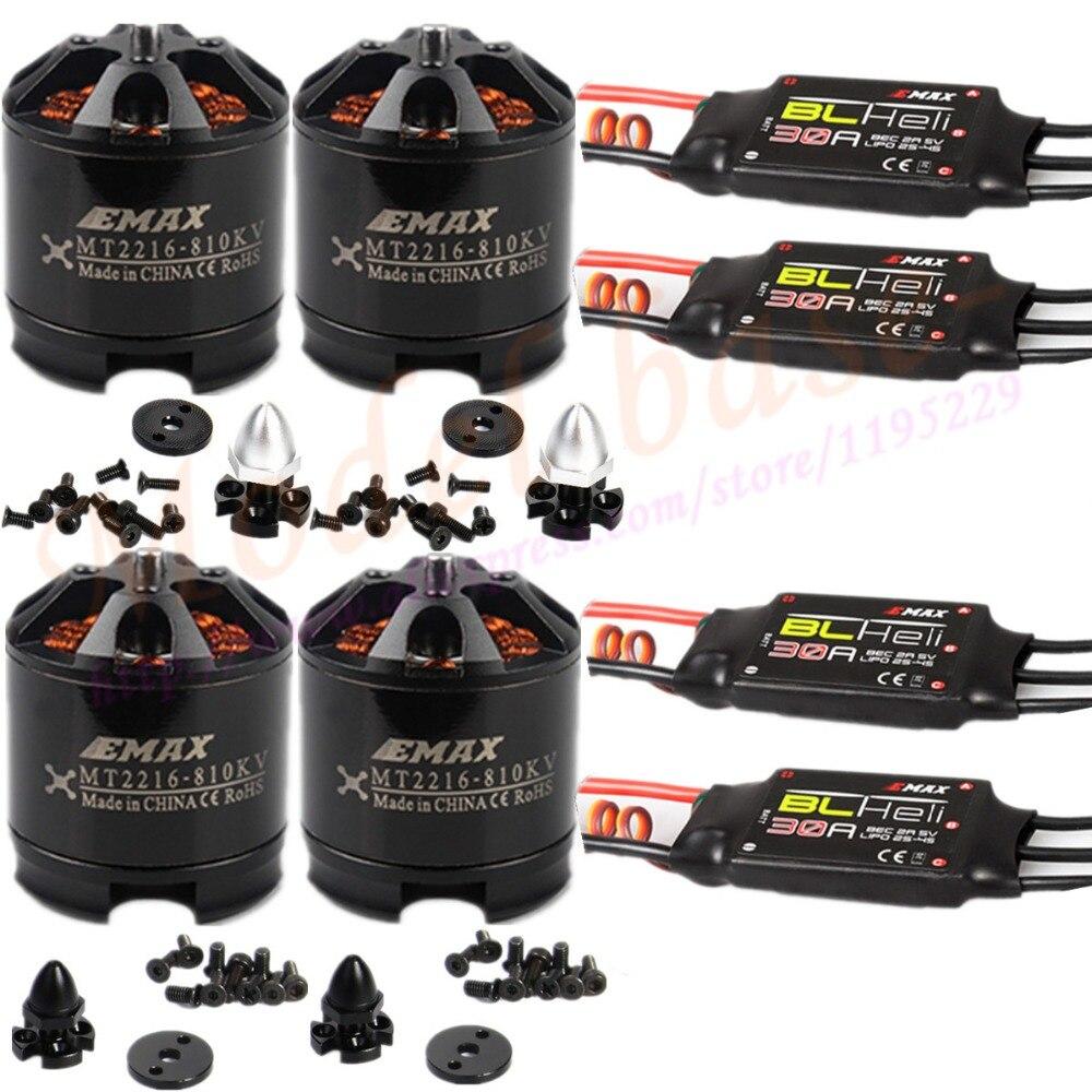 4X EMAX MT2216 810KV Brushless Motor+4X Emax Blheli 30A Brushless ESC for X525 F450 550 Multirotor Quadcopter