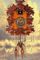 Доставка ручной работы резьба по дереву европейские часы cuckoo гостиная