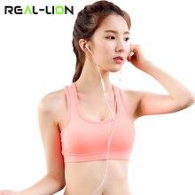 fd237417cb REALLION Women Push Up Padded Sport Bra Fitness Athletic Running Vest Yoga  Tops