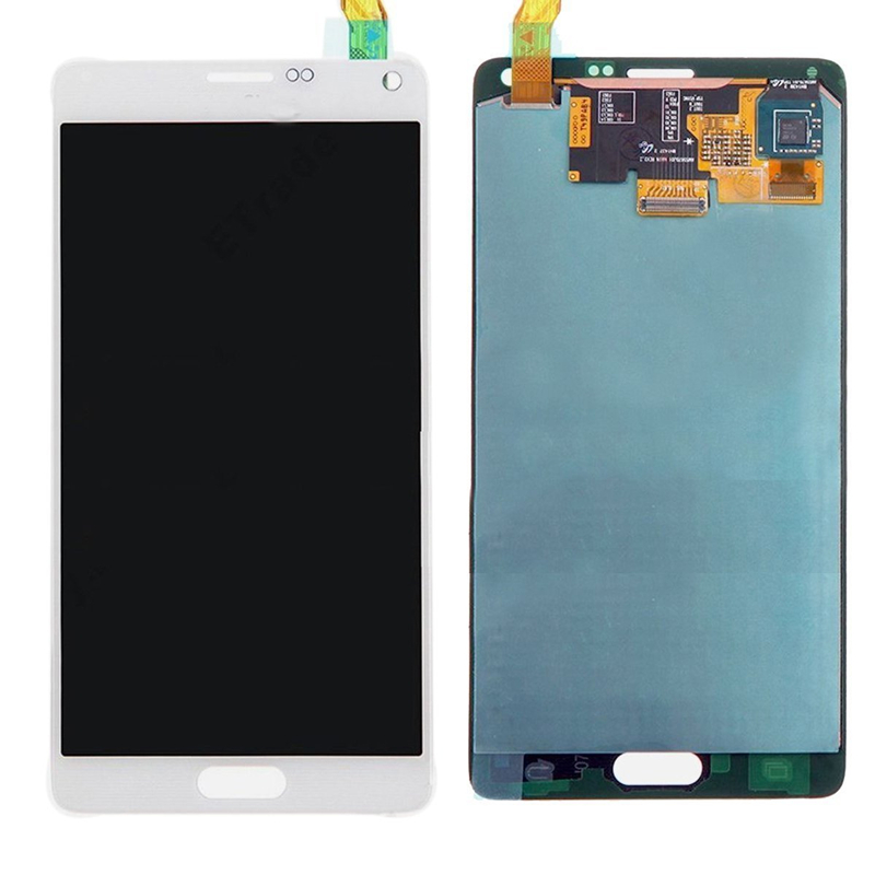 For Samsung Galaxy Note 4 N910 N910A N910V N91 N9100 LCD Touch Screen Display Assembly White 100% brand new lcd digitizer touch screen display assembly for samsung galaxy note 4 n910 n910a n910v n910p n910t black or white