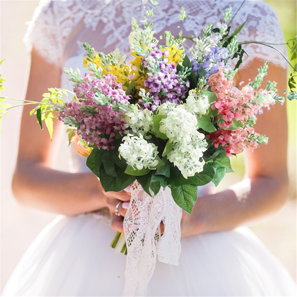 Artificial Hyacinth Flowers Simulation Plants For Wedding Home Table Office Garden Marriage Decoration