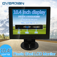 Display 10.4 VGA/DVI Connector Monitor 1024*768 Song Machine Cash Register Square Screen Lcd Monitor/Display Non touch Screen