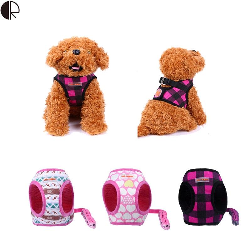 Mode confortable tissu pet petit chien harnais laisse - Chien pet shop ...