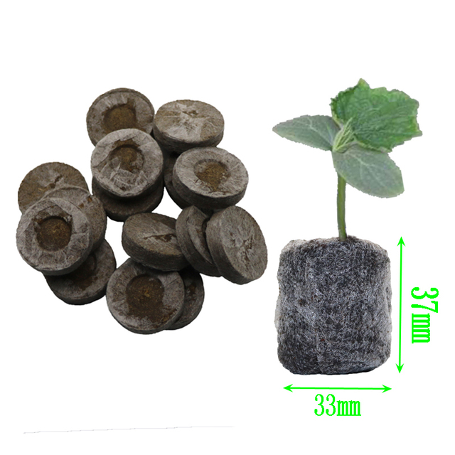 6pcs, nursery soil blocks, garden flowers planting soil blocks, nursery particles peat, seeds transplant seedlings tray