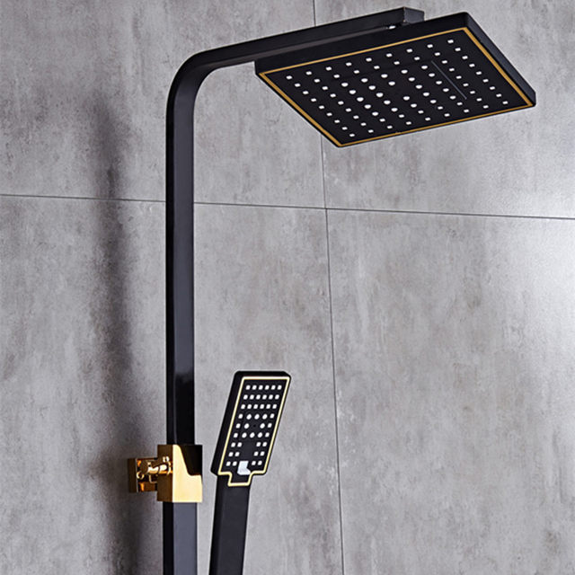 Shower Faucet Bathtub Sets Bathroom Luxury Black Mixer With Bidet Antique Gold Set