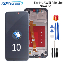 Original For Huawei P20 Lite LCD Display Touch Screen Digitizer Phone Parts For Nova 3e Screen LCD Display With Frame Free Tools недорго, оригинальная цена