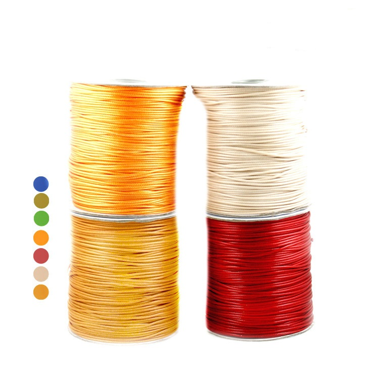 Free shpping Waxed Thread Cotton Cord String Strap Wholesale Necklace Rope Bead Fit DIY Bracelet