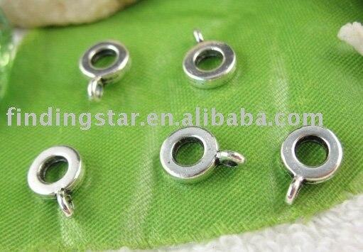 FREE SHIPPING 300pcs Tibetan Silver Color  European Bead Bail W/big Hole A11139