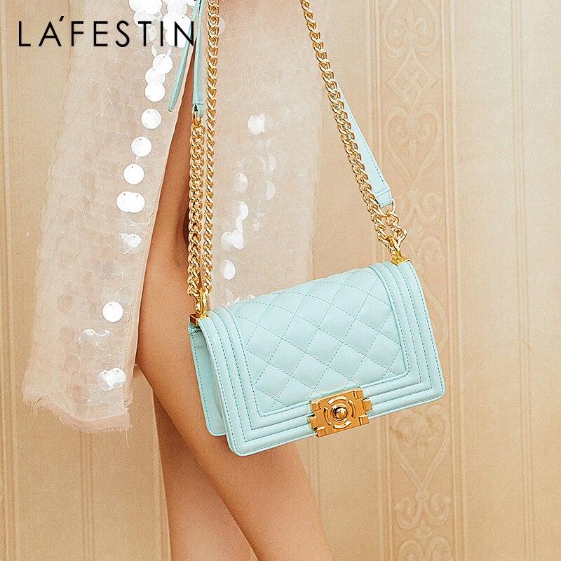 La Festin 2019 new small square bag women wild shoulder Messenger bag fashion chain bag