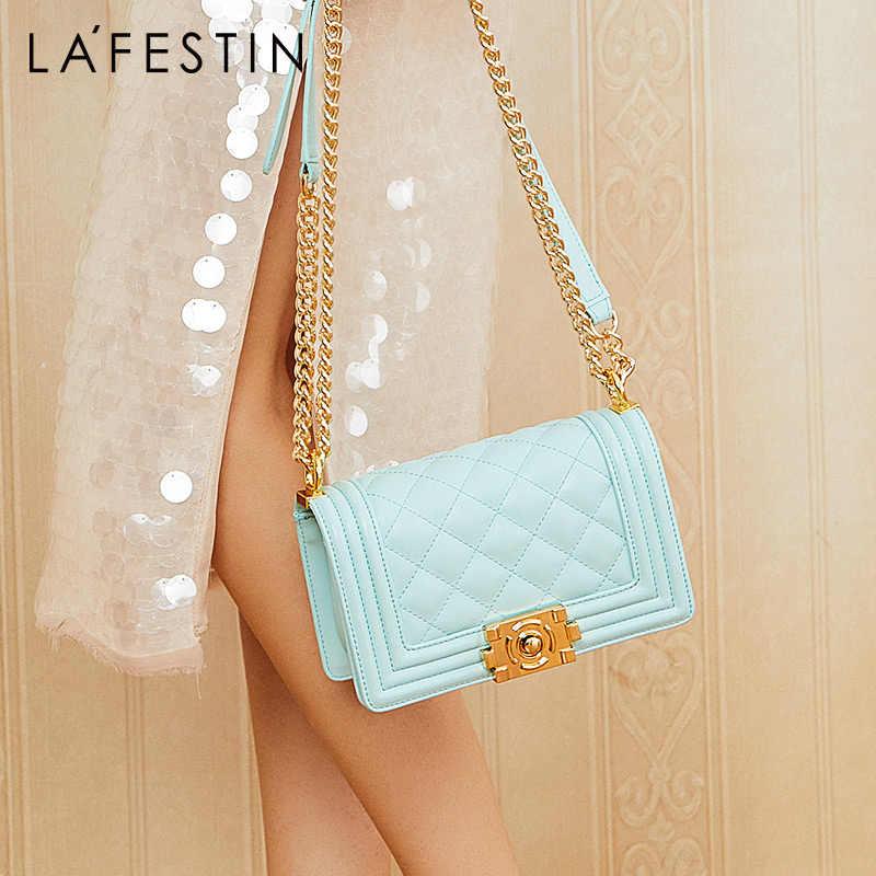 La Festin 2019 новая маленькая квадратная сумка женская дикая сумка через плечо модная сумка на цепочке