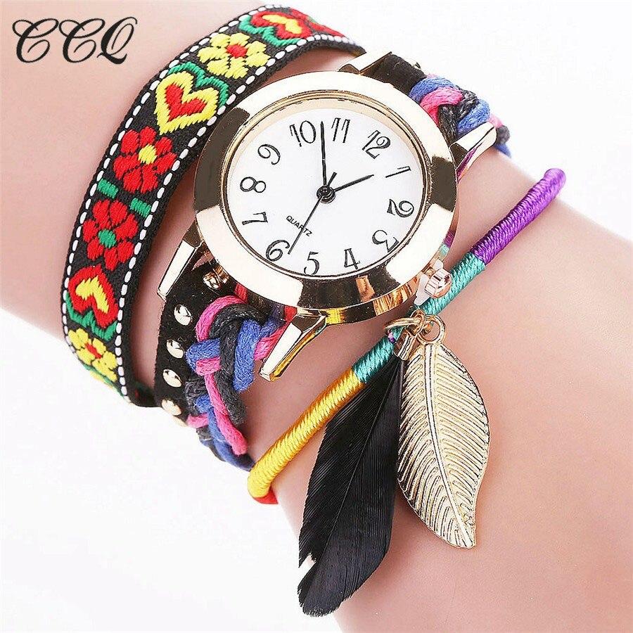 Multicolor Bohemian Style Bracelet Watch