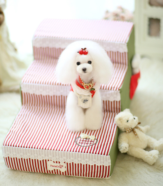Perfect Three Layers Cute Pet Dog Bed Stairs For Small Dog Cat Pet Dog Kennel Mat