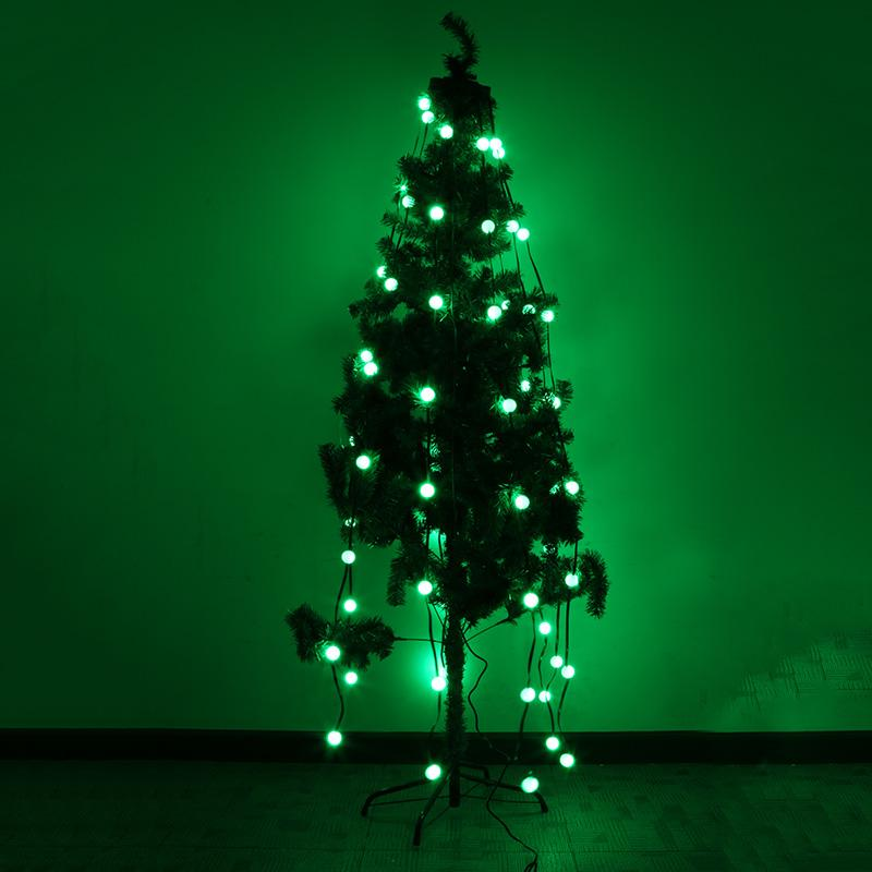 3 Modes Plug Type Christmas Holiday Laser Light 48 Bulb LED String Lights For Party Wedding Christmas Tree Decoration 3w 40 led blue light decoration string light for christmas wedding party 3 x aa