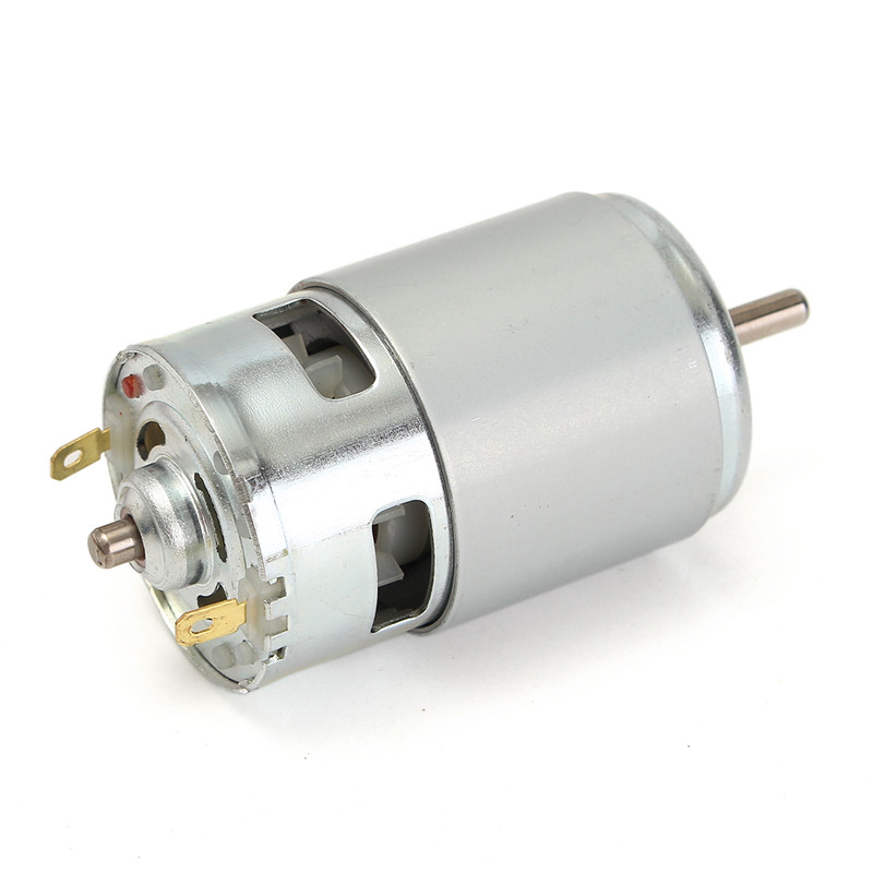 New 775 DC Motor DC 12V-36V 3500-9000 RPM Ball Bearing Large Torque High Power Low Noise Durable Quality Motor Silver