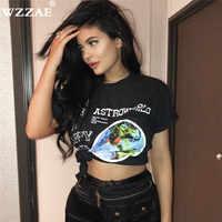 Hot 2019 Brand New Fashion Hip Hop T Shirt Men Women Travis Scotts ASTROWORLD Print Logo Couple Lovers Harajuku T-Shirts