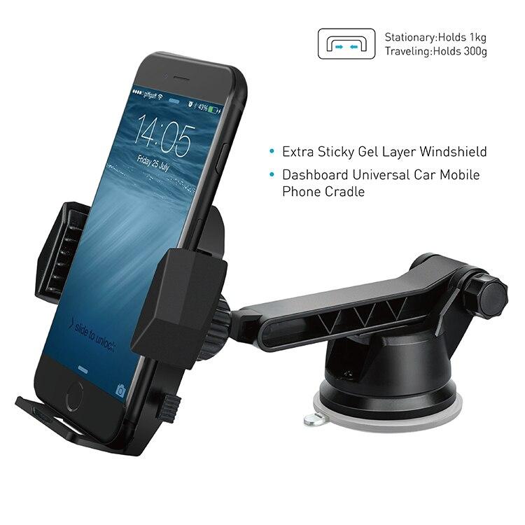 APPS2Car Universale Parabrezza Cruscotto Telefono Supporto di Montaggio per iPhone X 8 7 6 s più il Nexus 6 P Samsung S9 S8 Nota 5 HTC U11 Huawei